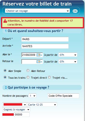 Voyages SNCF Erreur 2